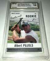 "Albert Pujols ""Featured rookie"" card 10 Gem mint Baseball card Maple Woods CC"
