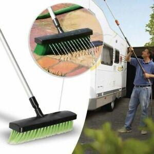 Heavy Duty Extendable Water Broom Jet Hose Garden Brush Outdoor Patio Path Clean