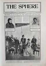 1900 Estampado King Of Portugal~ Reina Victoria Maroe Ameilie Reina