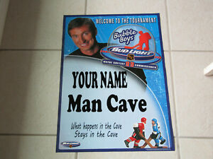 PERSONALIZED BUD LIGHT BEER WAYNE GRETZKY BUBBLE BOYS HOCKEY 20 x27 POSTER sign