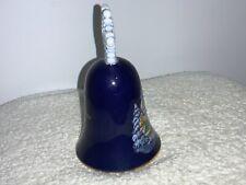 New ListingVintage Avon 1987 Christmas Bell Collectible Carolers Blue Snowflake Porcelain