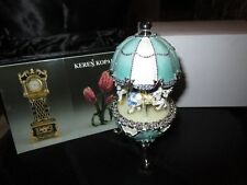 Easter Egg Horse Carousel Trinket Box by Keren Kopal music box w/ crystal
