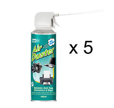 5 x 400ml Compressed Air Duster Cleaner Spray Can Canned Laptop Keyboard Mouse