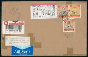 MayfairStamps Thailand 1960s Registered to Arlington Virginia Air Mail Cover wwk