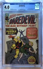 Daredevil #4 CGC 4.0 OW/W 1964 First Appearance the Purple Man Killgrave MCU