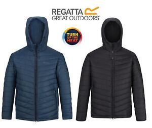 Regatta Mens Volter Loft Heated Insulated Quilted Hooded Waterproof Coat Jacket