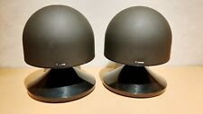 CANON S-50 OMNIDIRECTIONAL LOUDSPEAKERS BLACK HIGH GLOSS STEREO PAIR