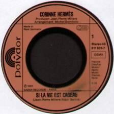 """[EUROVISION] CORINNE HERMES ~ SI LA VIE EST CADEAU ~ 1983 GERMAN 7"""" SINGLE"""