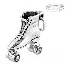 STERLING SILVER ROLLER SKATE CHARM W/ ONE SPLIT RING