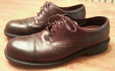 Mens ECCO Brown Leather CAP TOE Lace Up DRESS Shoes 44 US 10-10.5 GREAT SHOES