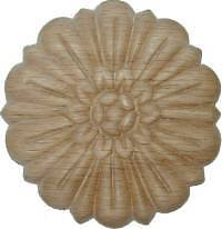 "OAK Embossed Wood Ornament 3"" Rosette   W35789"