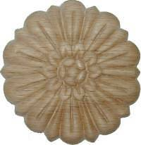 "OAK Embossed Wood Ornament 3"" Rosette   W35789"