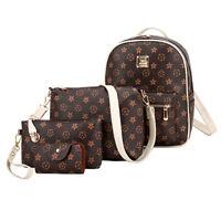 Zaino borsa tracolla borsetta porta documenti da donna 4 pezzi