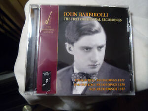 """JOHN BARBIROLLI - """"The First Orchestral Recordings"""" THE BARBIROLLI SOCIETY CD"""