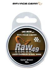 1 40/m Stahlvorfach Savage Gear Raw 49 0 36mm 10m braun Raubfischvorfach