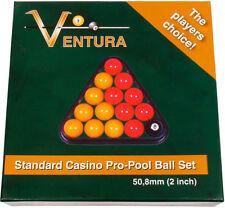 "Ventrua Red & Yellow British/English Pool Ball Set 2"" - for British Pool Tables"