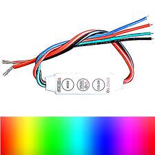 5 - 24 V RGB LED 3 Buttons Controller - 6A For Stripes 3528 5050 Soldering Lug