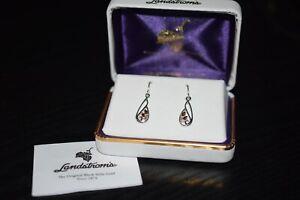 New In Box Landstrom's Sterling 12k. Black Hills Gold Earrings.