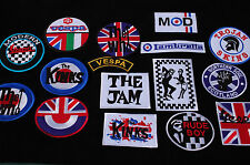 Scooter Iron/Sew On Patches - 83 Different Designs - Mods - Scar - Full Colour
