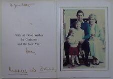Princess Diana & Prince Charles Hand Signed Inscribed Autograph Christmas Card