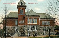 A View of the Butler High School, Students Pose in Front, Butler NJ 1912