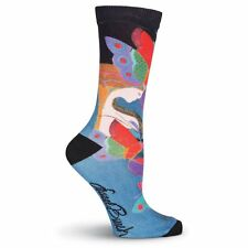 Laurel Burch K.Bell Mid Summers Night Dream Crew Women Polyester Blend Sock New