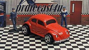 "HOT WHEELS VW VOLKSWAGEN BEETLE LOOSE 1:64 CUSTOM ""RED"" COLLECTION SERIES"