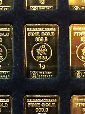1 Gramm Goldbarren 999,9  1 g Gold LBMA