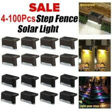 Outdoor Solar LED Deck Lights Garden Path Patio Pathway Stairs Step Fence Lamp