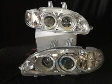 For 1992-1995 Honda Civic 4Dr Chrome LED Halo Projector Headlights Head Lamp