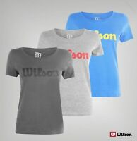 Ladies Wilson Crew Neck Short Sleeves Logo Script T Shirt Sizes from 8 to 16