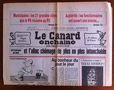 Le Canard Enchaîné 24/11/1982; Austérité, les fonctionnaires ont ouvert la brèch