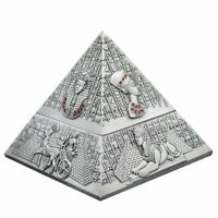 Retro Windproof Pyramid Ashtray with Lid for Cigarettes Men Smokers