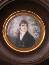Antique 19th century French painted portrait miniature