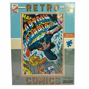 RMS Retro Classic Captain America Comics 1000 Jigsaw Puzzle 75 cm x 50 cm New