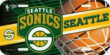 NBA Basketball SEATTLE SONICS Plastic License Plate by wincraft