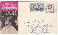 New Zealand: Royal Visit Souvenir Cover, Auckland to Saffron Walden, 9 Dec 1955