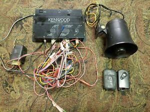 Kenwood KPC-31 Vehicle Security System, Car Alarm with Cables and Remote
