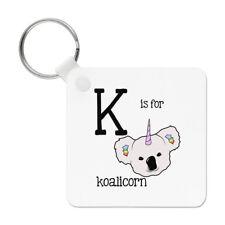 Letter K Is For Koalicorn Keyring Key Chain - Koala Unicorn Australia Alphabet