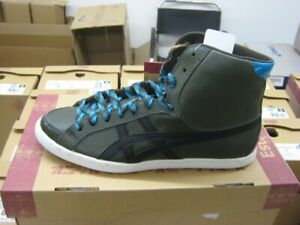 ASICS ONITSUKA TIGER Seck Hi Damen Sneaker Leder dunkelgrün D9F9L-8090 NEU/OVP