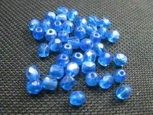 40 Glasschliffperlen rund 4mm orange Perlen neu Beads 3432 K4