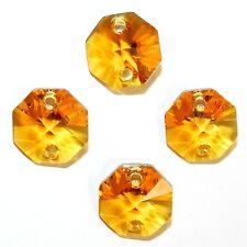 SCOXL145 TOPAZ Orange 14mm Faceted 2 Hole Octagon Link Swarovski Crystal Bead 6p