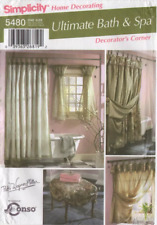 Simplicity Sewing Pattern 5480 Bathroom Set Shower Curtains Stool Cover Spa