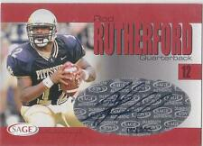 ROD RUTHERFORD CERTIFIED Auto 2004 Sage card Pitt Pittsburgh Panthers Football