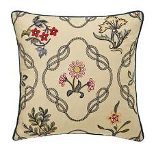 Morris & Co Strawberry Thief Kelmscott Trellis Cushion, 52% linen, 48% cotton...