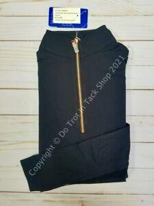 Tailored Sportsman ICEFIL Long Sleeve Ziptop Shirt -  Black/Rose Gold