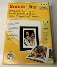 "Kodak 8505141 4""x6"" Ultra Premium Photo Paper High Gloss 100 Sheets - Open Box"