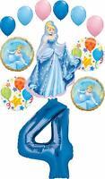 Cinderella Party Supplies Princess 4th Birthday Balloon Bouquet Decorations