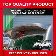 RENAULT TRAFIC 01-14 QUALITY PU REAR TWIN BARN DOOR SPOILER NOT CHEAP FIBREGLASS