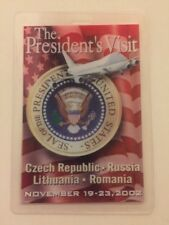 2002 President George W. Bush CBS NEWS Press Pass Czech Republic Russia Lith Rom